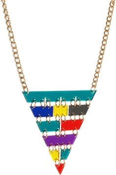 £57.00 Ancient Pyramid Inverted Necklace - multicoloured