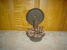 Primitive Tin Candle Holder  $ 12.00