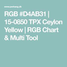 RGB #D4AB31 | 15-0850 TPX Ceylon Yellow | RGB Chart & Multi Tool Trends 2018, Chart, Yellow, Logos, Logo