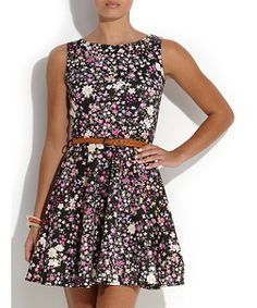 Black Pattern (Black) Te Amo Black Ditsy Floral Sun Dress | 259846109 | New Look £24.99