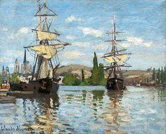La Seine à Rouen C Monet 1872,