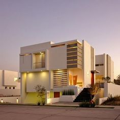 White minimalist house design #KBHomes