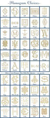 Monograms from Number Four Eleven in Savannah .... perfect for my lifestyle