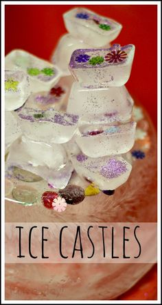"""Melting Ice Castles -- This preschool science experience was Inspired by my students' love of """"Frozen"""". Perfect for a fairy tale theme, or just because! Fairy Tale Activities, Preschool Science Activities, Winter Activities, Preschool Activities, Science Fun, Science Experiments, Preschool Winter, Science Projects, Water Theme Preschool"""