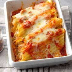 Mexican-Style Chicken Manicotti Combining an Italian pasta and Mexican ingredients creates an exceptional dish. This recipe is well-liked even in Cajun Country Louisiana! Mexican Dishes, Mexican Food Recipes, New Recipes, Cooking Recipes, Favorite Recipes, Crowd Recipes, Mexican Meals, Summer Recipes, Sweet Recipes