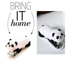 """Bring It Home: Panda Stapler"" by polyvore-editorial ❤ liked on Polyvore featuring interior, interiors, interior design, home, home decor, interior decorating and bringithome"