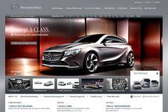 Mercedes launcht den Facelift des deutschen Markenportals.