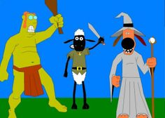 Shaun the Sheep and his friends in their Halloween costumes! Halloween 2, Halloween Costumes, Shaun The Sheep, A Pumpkin, Trick Or Treat, October, Carving, Friends, Projects