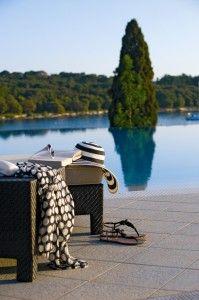 The hotel Monte Mulini in Rovinj, Croatia
