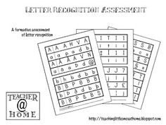 letter recognition assessment for kindergarten printable preschool assessments aligned with early 12259