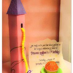 Tangled Birthday party invitation made with cricut