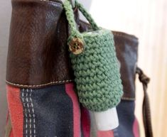 Crocheted Hand Sanitizer Cozy-fast and easy! cute stocking stuffers!