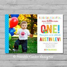 Boy 1st Birthday Invitation  DIY Printable by printablecandee, $10.00