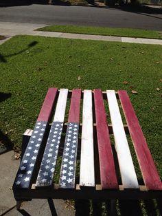 American Flag Pallet