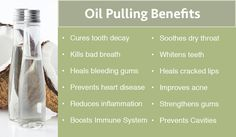 """Coconut Oil Pulling Benefits (add doTERRA essential oils for additional health benefits): """"one of the best ways to remove bacteria and promote healthy teeth and gums!"""" """"Essential oils carry some of the most potent antibacterial and anti-fungal properties on the planet, and they can easy, and safely enhance the oil pulling experience. Additionally, as essential oils absorb into your oral mucosa, your body will enjoy the antioxidant and medicinal powers inherent in these potent compounds."""""""