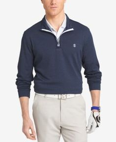 Easy-wearing comfort and green-ready style meet in the Chip Shot golf shirt from Izod. | Polyester | Machine washable | Imported | Mock neck with quarter-zip closure  | Embroidered logo at chest  | UP