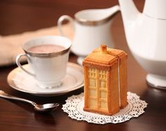 This is the most British thing I've ever seen. A TARDIS cookie, for every one needs a ill five o'clock adventure in space.  (Silicone Mold Set)