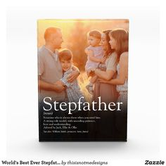World's Best Ever Stepfather, Stepdad Definition Photo Block Stepdad Fathers Day Gifts, Gifts For Father, Gifts For Family, Gifts For Kids, Father Photo, New Daddy, Photo Blocks, Photo Magnets, Sticker Shop