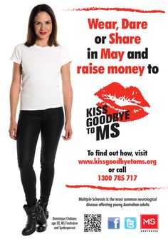 Wear, Dare or Share in May and raise money to Kiss Goodbye to MS - #kissgoodbyetoms