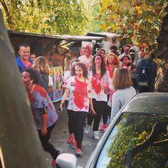Allez hop! #booStbastille lâcher de zombies sur Paris #zombierun #halloween