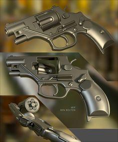 OTs-38 Stetchkin silenced revolver - Polycount Forum