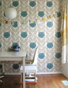 orla kiely wallpaper.