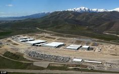 Storage: An aerial photograph shows the center, which is expected to be completed this October
