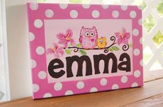 personalized canvas room sign nursery wall by rebekahcrisco, $25.00
