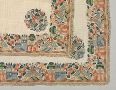 Embroidered head scarf | Page 4 | Cleveland Museum of Art Cleveland Museum Of Art, Hand Embroidery, Quilts, Blanket, Rugs, Antiques, Handmade, Clothes, Shoes