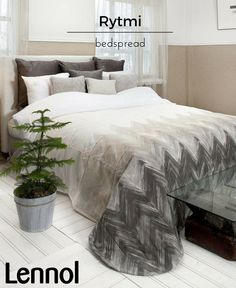 Rytmi is Finnish for Rhythm. Part of Lennol's range of bedroom linen. The Rytmi day-cover has a modern design that provides a stylish finishing touch to your bedroom. It also adds an extra layer of warm during winter – particularly useful in Finland.