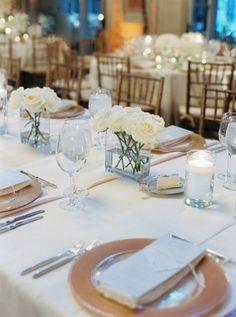 Elegant tablescape: http://www.stylemepretty.com/2015/03/12/glamorous-washington-dc-ballroom-wedding/ | Photography: Amelia Johnson - http://amelia-johnson.com/