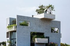Gorgeous concrete house is stacked with courtyard gardens - Curbedclockmenumore-arrow : Lovely