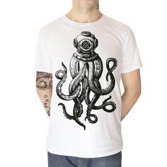 camiseta para hombre de algodón estampado por dioneapalermo