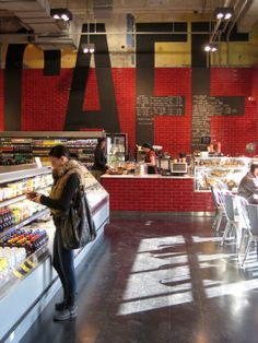 [Loblaws at Maple Leaf Gardens cafe] LOVE the GIANT chalk board letters.