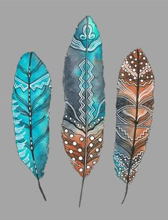 I am on a short break but I will be back shortly. Feather Drawing, Feather Painting, Feather Art, Feather Tattoos, Painted Leaves, Painted Rocks, Painted Feathers, Bird Feathers, Native Art