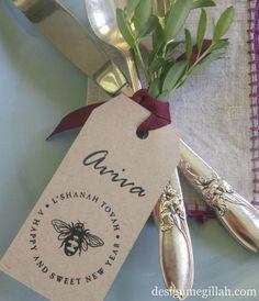 Rosh Hashanah Bee Tags - http://www.decorationarch.net/interior-design-ideas/rosh-hashanah-bee-tags.html