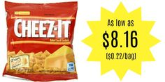 Kellogg's Cheez-It Baked Snack Crackers 36-Count Pack as low as $8.16 ($0.22/bag)!