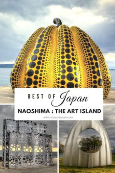 Discover one of the best spots in Japan: Naoshima, The Art Island. Once an industrial site, whose waters were badly affected by the poisoning from chemicals and waste in the 1970s, Naoshima island is now best known as a unique site for modern and contemporary art. This is a unique site, and one of the best places to visit in Japan. An absolute must for art and architecture lovers, and for anyone looking for places off-the-beaten-path. #japan #naoshima #art #architecture #traveltips