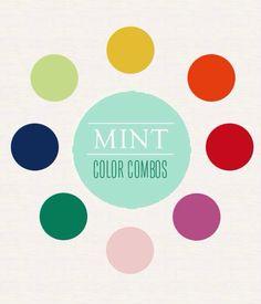 Complimentary colors to mint green