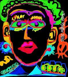 """Pop art Portrait"" Original digital drawing"