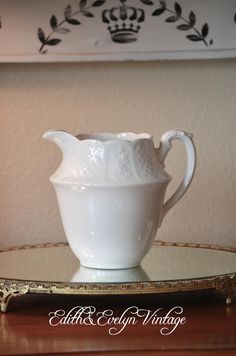Vintage English Ironstone Pitcher England by edithandevelyn on Etsy