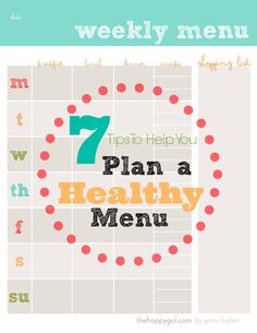 7 Tips to help you plan your menu