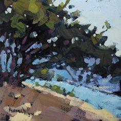 """Oaks on the Columbia River"" - Original Fine Art for Sale - © Cathleen Rehfeld"