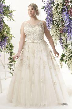 Metallic gold lace and tulle ball gownskirt with satin beaded belt Plus Size Wedding Dress #Plussizeweddingdresses