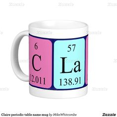 Laura periodic table name mug september 2016 purchases form my claire periodic table name mug urtaz Image collections