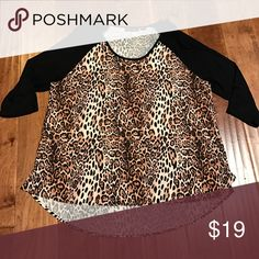 New w/o tags 🐆Cheetah❤️ New without tags, bought on posh, too small for me😭 3/4 sleeve Tops Tees - Long Sleeve