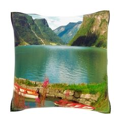 Two Row Boats in Water Nordfjord Norway 18-inch Velour Throw Pillow | Overstock.com Shopping - Great Deals on Throw Pillows $42.99