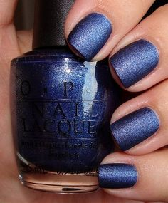 Nails, Nail Polish, Nail Art / Switch up your nail texture with OPI- Russian Navy - Suede #nails