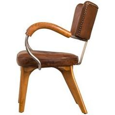 Flemming Lassen, Rare if not Unique Original Leather, Beech and Steel Armchair
