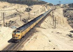 Union Pacific Railroad EMD E8(A) - Cajon Pass, San Bernardino County, California, 1970
